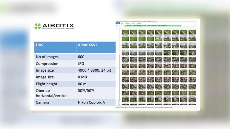 AIBOTIXというドローンで撮影した画像の概要