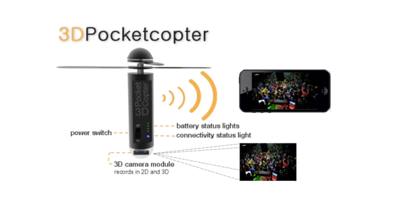 世界最小飛行カメラ