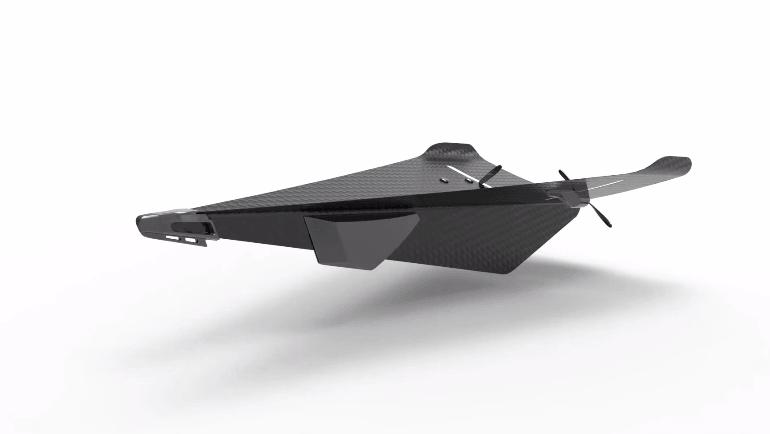 紙飛行機型ドローン