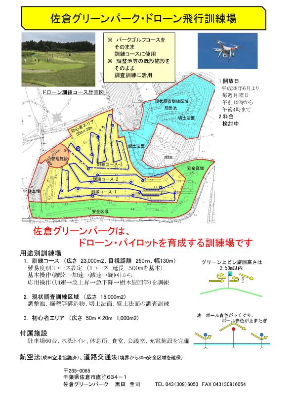 佐倉グリーンパークドローン飛行訓練場
