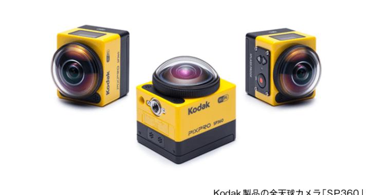 コダック製品の全天球カメラ