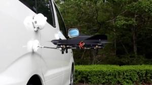 洗車をするマルチコプター『ぐるる』