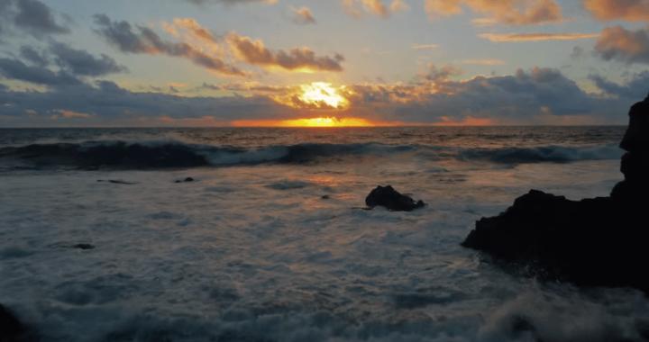 ハワイの空撮映像