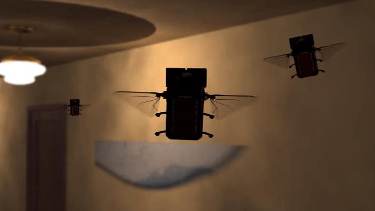 昆虫型ナノドローン