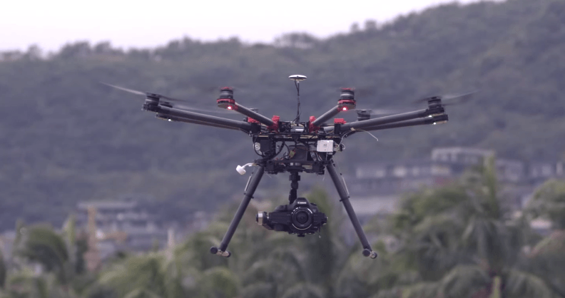空撮業務用オクトコプター